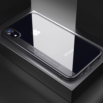 """Bakeey Protective Case For iPhone XR 6.1"""" Clear Transparent Shockproof Hybrid PC TPU Back Cover"""