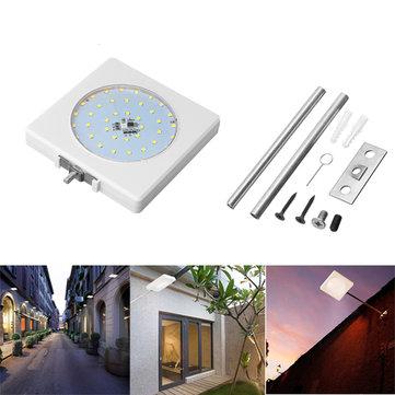 5W Solar Sound Control Colorful lâmpada de parede de luz de rua com pólo impermeável para jardim quintal ao ar livre