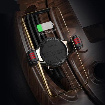 HOCO QI 10Wスクロールデザイン車ワイヤレス高速充電器エアベントの電話ホルダーブラケットiPhone用XS