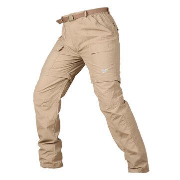 Taktik Çabuk kuruyan Nefes Pantolon Erkek Outdoor Katı Renk Ayrılabilir Pantolon