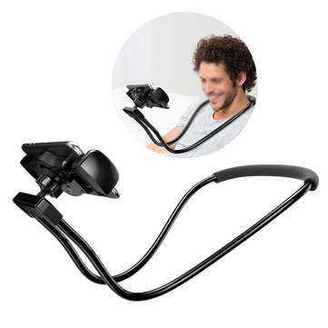 Baseus Flexible 360 Degree Rotation Necklace Long Arm Holder Lazy Bracket for 4-10 inches Phone Pad