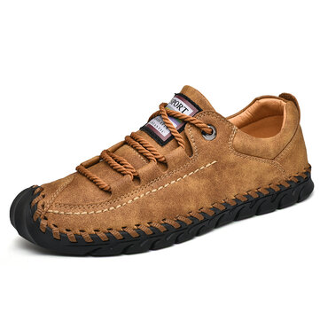 Men Stitching Soles Toe Protection Comfy Soft Oxfords