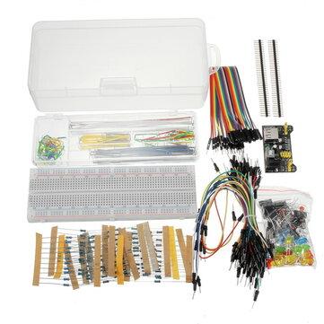 Geekcreit القوة Supply Module 830 Hole Breadboard Resistor Capacitor LED Kit Geekcreit for Arduino - المنتجات التي تعمل مع لوحات Arduino الرسمية