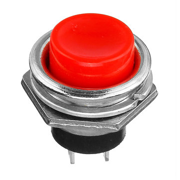 2Pcs 3A Interruttore a pulsante momentaneo 125V OFF-ON Horn Red Plastic