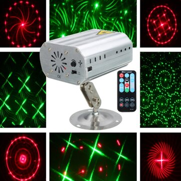 Mini Auto/Voice LED Laser Projector Stage Light 12 Patterns DJ Disco Party Club Lamp AC100-240V