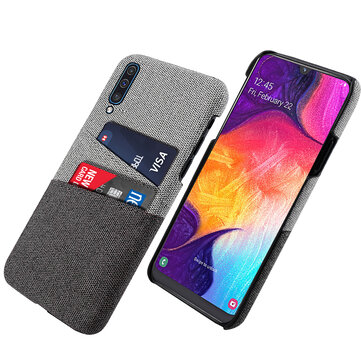 Bakeey Fabric Card Holder Shockproof Protective Case For Samsung Galaxy A50 2019