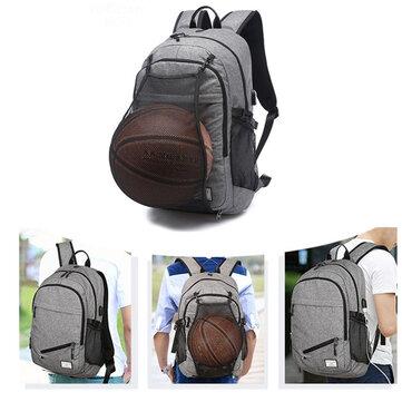 ماء قماش محمول حقيبة مدرسية حقيبة مع أوسب ميناء الشحن / كرة السلة صافي