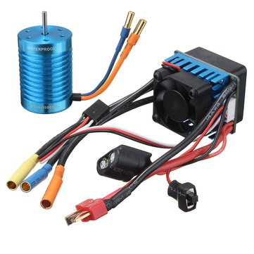 Racing 60A ESC Speed Controller F540-3000KV Brushless Motor For 1/10 1/12 RC Car