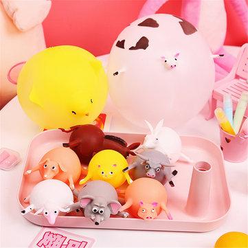 Sfigmomanometro divertente di sforzo dei giocattoli gonfiabili di compressione animale del pallone Squishy
