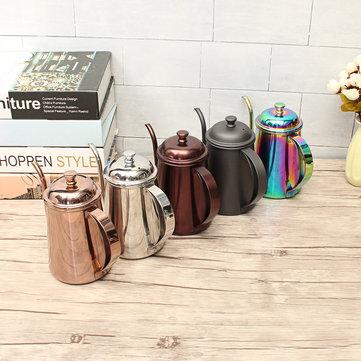 650ml roestvrij staal giet over drip koffie theepot waterkoker Kleurful Home keuken thee gereedschap