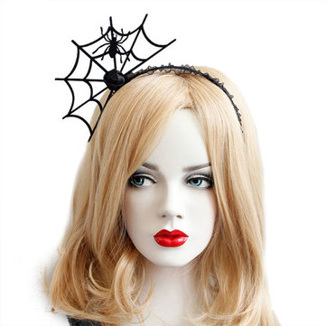 Halloween Party Spinnenweb Headbrands Toys Gothic Punk Girl Tiara Fashion Lace Hair Ornaments