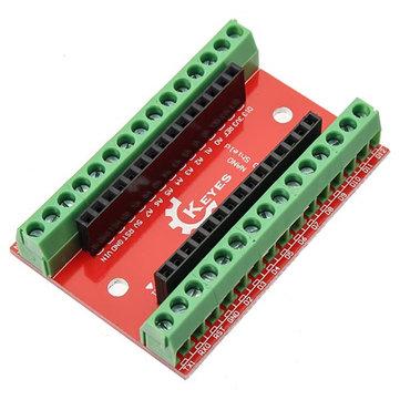 Placa de expansão de 10pcs NANO IO escudo para Arduino