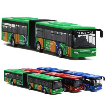 """18.5cm 7.3"""" Alloy Bus 1:32 Diecast Model Toy Car Model Kid Gift House Play Toy"""