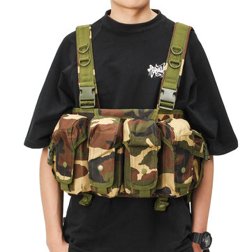 Tactical Vest Camouflage Tactics Belly Pocket Condor 7 Chest Rig Porta caricatori Borsa