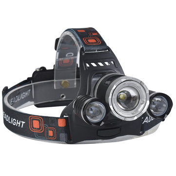 XANES 746 800 Lumens T6 + XPE LED Farol de bicicleta Mecânico Zoom Outdoor Sports HeadLamp 4 Modes