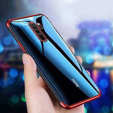 Bakeey Chapeamento à prova de choque transparente Soft TPU de proteção Caso para Xiaomi Redmi Note 8 pro