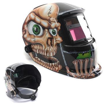 Solar Power Auto Darkening Welding Helmet Masker Tukang Las Fungsi Grinding