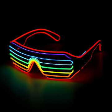 Voice Control EL Glasses Neon Party Flashing Light Up Sunglasses Bar Halloween Goggles