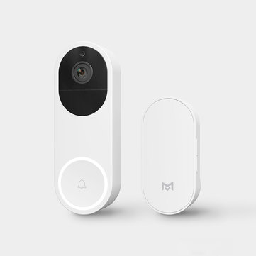 Xiaomo AI Face Recognition 1080P Infrared Night Vision Smart Video Doorbell Set APP Remote Alarm From Xiaomi Eco-system