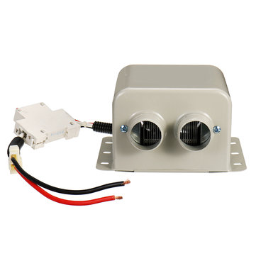 24V 400W Car Electric Heater Defrost With 2 Air Outlets Maximum About 80°C