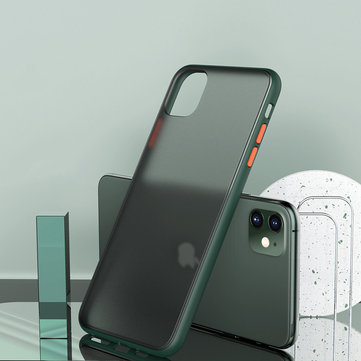 Bakeey Shockproof Anti-fingerprint Ultra-thin Frosted Soft Silicon Edge+Hard PC Translucent Protective Case for iPhone 11 6.1 inch