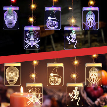 LED USB Halloween Luminous Fairy Curtain String Light Garland Hanging Wall Lamp For Home Party Decor
