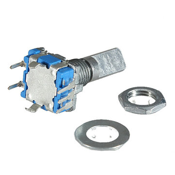 10Pcs 15mm Rotary Encoder Switch with Key Switch with 2 Bit Gray Scale Micro Switch
