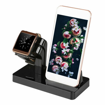 2 in 1 Multifunction Aluminum Alloy Phone Charger Dock Stand Holder Desktop Mount for iPhone iWatch