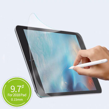 Baseus Matte Paper-like Surface Anti-Glare Writing Drawing PET Screen Protector for iPad 2/3/4/for iPad Air/for iPad Air 2/for iPad Pro 9.7 Inch/for iPad 9.7 Inch 2017/for iPad 9.7 Inch 2018