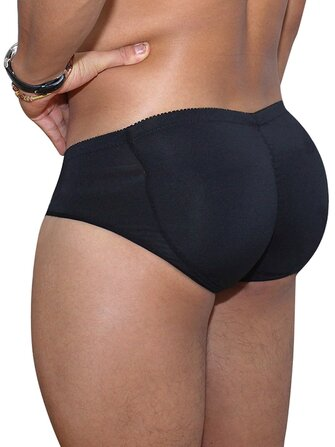 Mens Butt Lifting Underwear Shapewear Breathable Plus Size Briefs with Pads