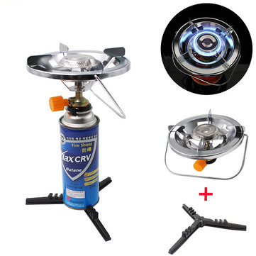IPRee® Metal Cooking Stove Portable Ultralight Mini Butane Gas Cooking Furnace Camping Picnic With Tank Base