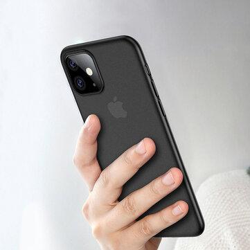 iPhone 11 6.1インチ用Cafele超薄型アンチスクラッチマット半透明TPU保護ケース