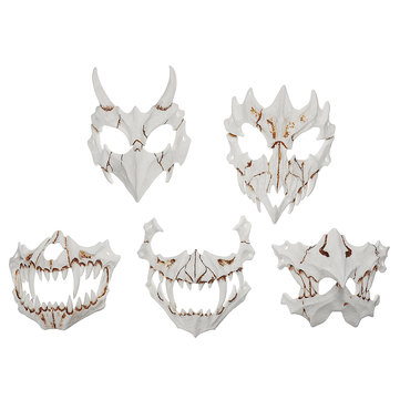 Halloween Resin Mask Animal Theme Party Face Skull Mask Kostuum Cosplay Party