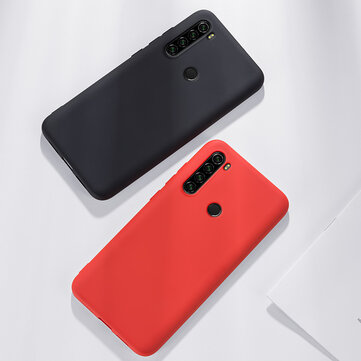Pour Xiaomi Redmi Note 8T Case Bakeey Smooth Liquid Silicone Rubber Back Cover Housse de protection