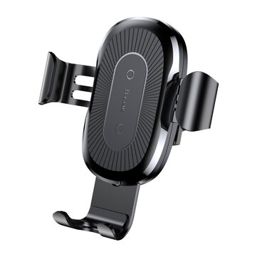 Baseus Qi Wireless Fast Car Charger Phone Holder Mount For iPhone 8 X Samsung S8 S7 S6