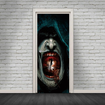 Miico MT009 3D Door Sticker Halloween Sticker Room Decoration Removable Wall Stickers
