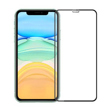 Protecteur d'écran en verre trempé à couverture intégrale Mofi 3D aux contours incurvés de dureté 9 pour iPhone XR / iPhone 11 6,1 pouces