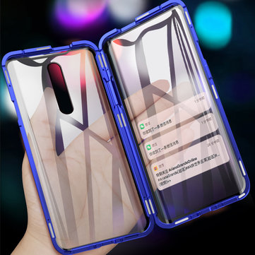 Bakeey 360º Front+Back Double-sided Full Body 9H Tempered Glass Metal Magnetic Adsorption Flip Protective Case For Xiaomi Pocophone F1