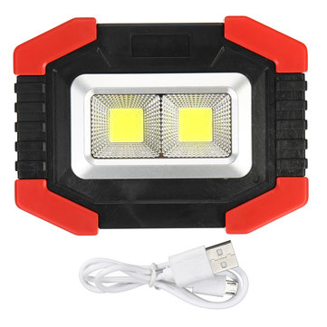 60W LED COB Solar Battery / USB Rechargeable LED Flood Light Waterproof Work Light Camping Hunting Emergency Lamp Flashlight