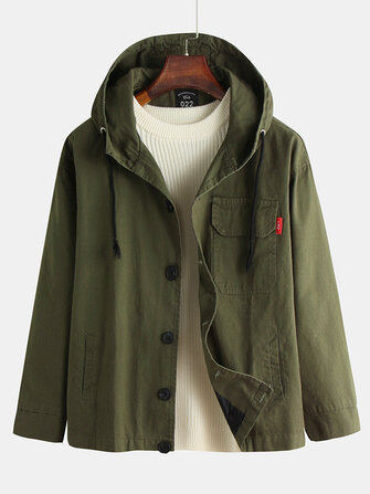 Men's New Japanese Large Size Hooded Loose Tooling Casual Jacket