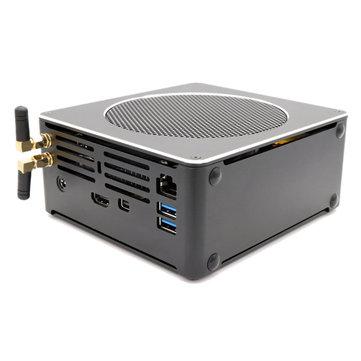 Eglobal S200 Mini PC i9-8950HK 16 GB + 128 GB / 256 GB / 512 GB Hexa Çekirdek Win10 DDR4 Intel UHD Grafik 630 4.8 GHz Fansız Mini Masaüstü PC SATA mSATA MIC VGA HDMI 1000 M WIFI