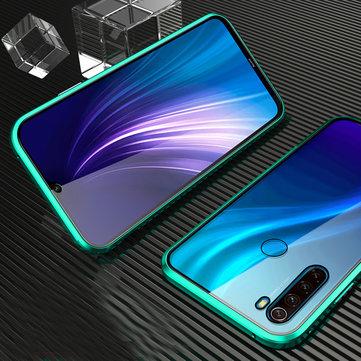 Bakeey Xiaomi Redmi Note 8 Écran incurvé 360º Écran avant et arrière Étui de protection double face tout le corps 9H en verre trempé métallique avec adsorption magnétique