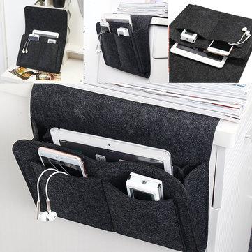 Войлок прикроватная кровать для хранения кэдди Органайзер телефон для хранения журналов телевизор Дистанционное Управление держатель Су