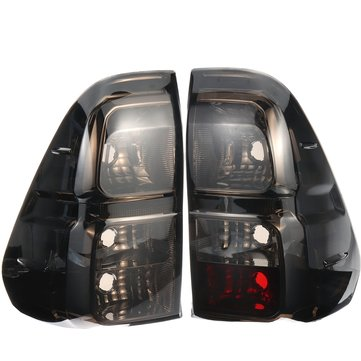 Car Rear Left/Right Tail Light Brake Lamp Smoke Black with Wiring For Toyota Hilux Revo 2015-Up