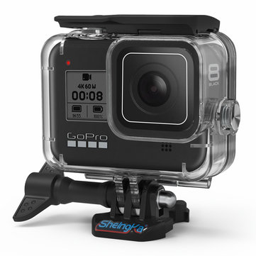 SheIngKa FLW318 60M Waterproof Underwater Diving Protective Case Shell for GoPro Hero 8 Black Action Sports Camera
