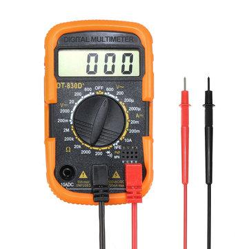 DT830D + LCD Цифровой Мультиметр AC / DC Измеритель напряжения Тестер тока Детектор сопротивления
