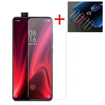 Bakeey Protetor de Tela De Vidro Temperado + Protetor de Lente Para Xiaomi Mi 9 T / Mi9T PRO / Xiaomi Redmi K20/Redmi K20 PRO