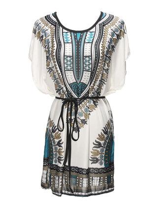 Women Ceenlsueenl Summer Neentiopeenl Wind Totem korte mouw Dress