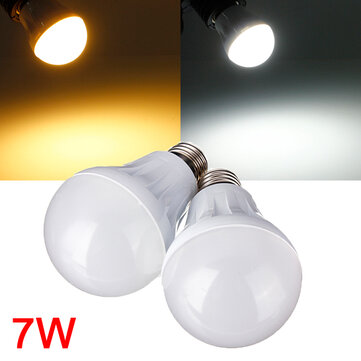 E27 7W 27LED 3014 SMD Globe Bulb Light Lamp White/Warm White 220-240V